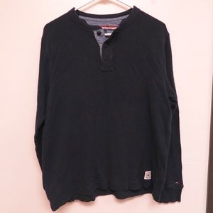 Tommy Hilfiger Navy Henley Sweatshirt Small